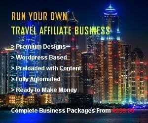Wordpress Based Affiliate Turnkey Travel Package
