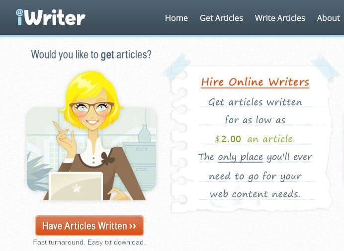 Get Unique Content Written on iWriter