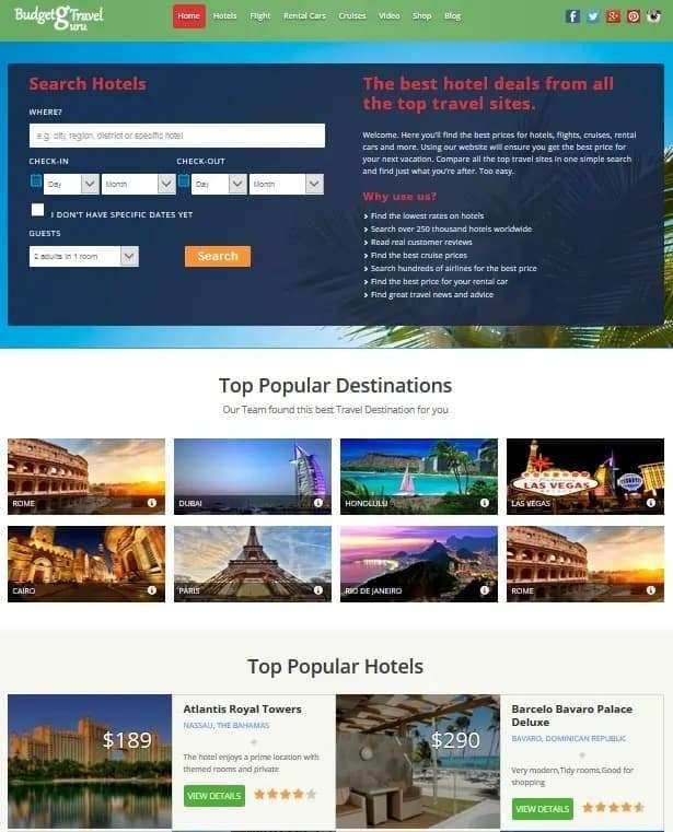 Hotels Combined Website